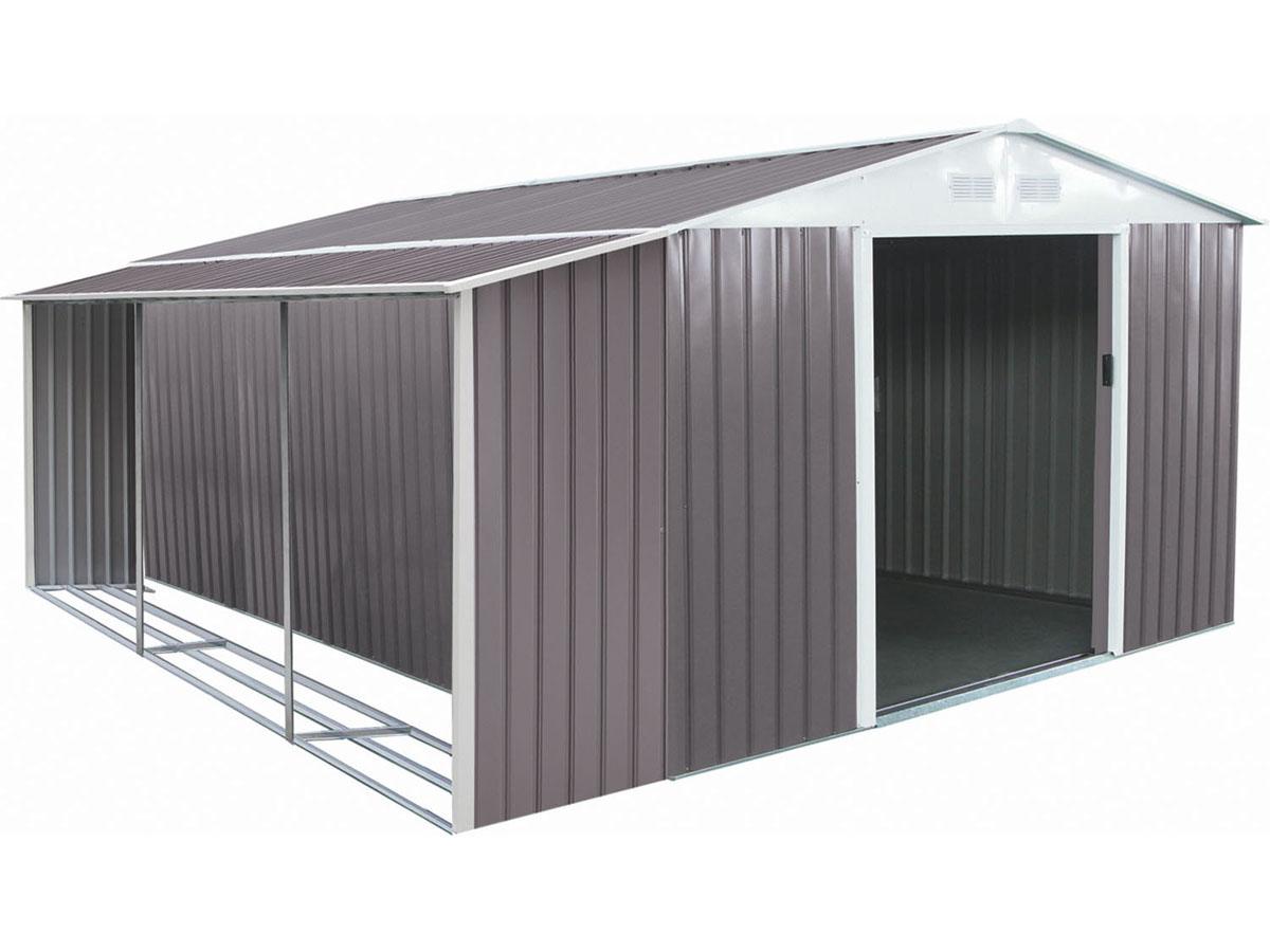 abri de jardin m tal dallas 15 16 m avec abri b che 93325. Black Bedroom Furniture Sets. Home Design Ideas