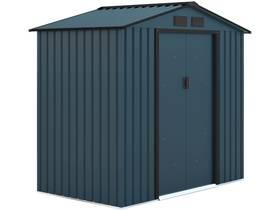 "Abri de jardin métal ""Kansas"" - 2.70 m² - 213 x 127 x 195 cm - Bleu gris"