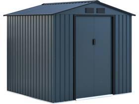 "Abri de jardin métal ""Kansas"" - 4.07 m² - 213 x 191 x 195 cm - Bleu gris"