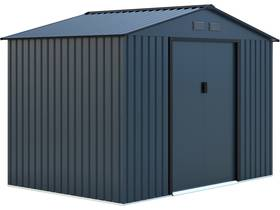 "Abri de jardin métal ""Kansas"" - 5.30 m² - 277 x 191 x 202 cm - Bleu gris"