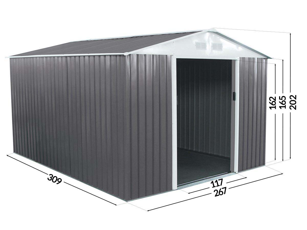 abri jardin m tal dallas 8 84 m 74726 78622. Black Bedroom Furniture Sets. Home Design Ideas