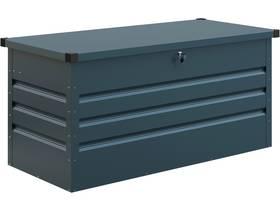 """Coffre de jardin métal """"Store"""" - 132 x 61 x 60 cm - Bleu gris"""