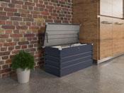 """Coffre jardin """"Store"""" métal - 480 L - 132 x 61 x 60 cm - Gris"""