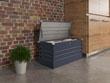"""Coffre jardin """"Store"""" - 480 L - 132 x 61 x 60 cm - Gris"""