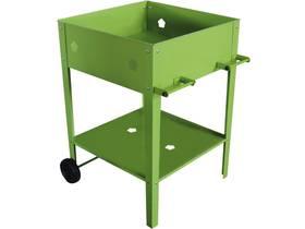 """Table de rempotage métal """"Laurier"""" - 55 x 55 x 80 cm - Vert"""