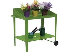 """Table de rempotage métal """"Orchidée"""" - 90 x 55 x 90 cm - Vert"""
