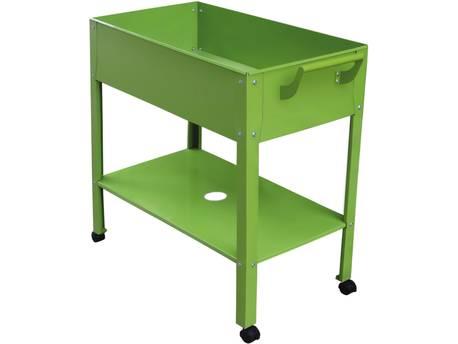 """Table de rempotage métal """"Hibiscus"""" - 82 x 43 x 83 cm - Vert"""