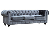 Canapé fixe Chesterfield Velours