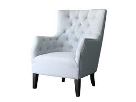 fauteuil scandinave tissu duchesse bleu ciel 83705 83710. Black Bedroom Furniture Sets. Home Design Ideas