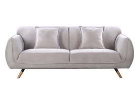 canap fixe brazil 3 places gris 86374 86777. Black Bedroom Furniture Sets. Home Design Ideas
