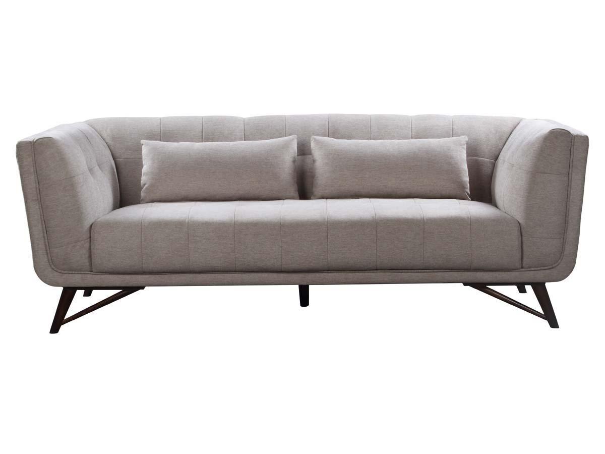 canap fixe brio 3 places gris 86377 86799. Black Bedroom Furniture Sets. Home Design Ideas
