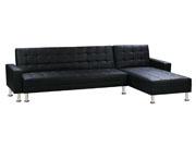 Canapé d'angle convertible et réversible  Theo  - 5 Places - Noir