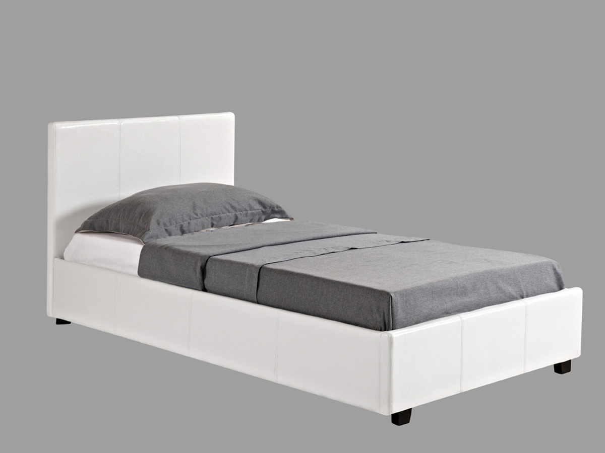 lit coffre carla 90 x 190 cm blanc 70004 78872. Black Bedroom Furniture Sets. Home Design Ideas