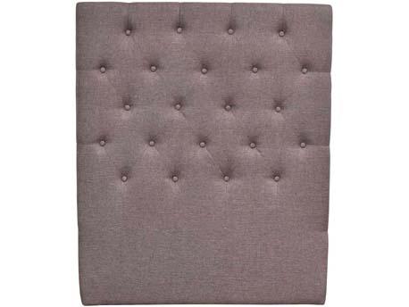 """Tête de lit capitonnée """"Déco"""" - 99 cm - Taupe - En tissu"""