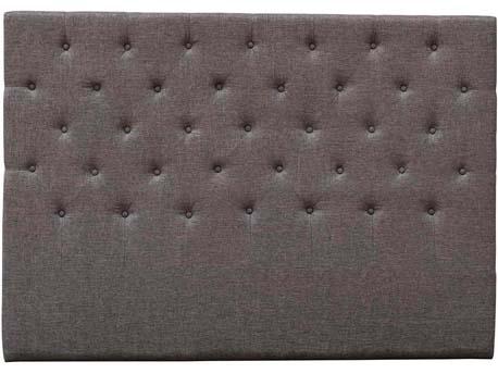 """Tête de lit capitonnée """"Déco"""" - 169 cm - Taupe - En tissu"""