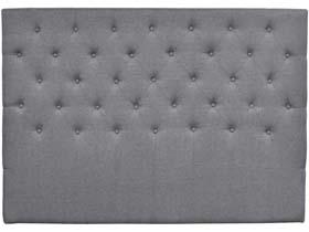 """Tête de lit capitonnée  """"Déco"""" - 160 cm - Gris clair - En tissu"""