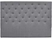 """Tête de lit capitonnée  """"Déco"""" - 140 cm - Gris - En tissu"""