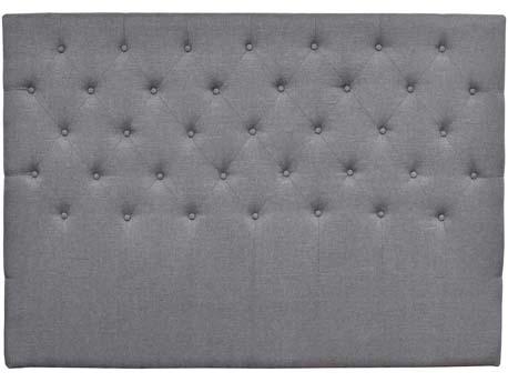 """Tête de lit capitonnée """"Déco"""" - 189 cm - Gris - En tissu"""