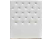 """Tête de lit capitonnée """"Déco"""" - 99 cm - Blanc - En PVC"""