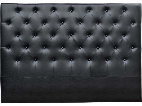 """Tête de lit capitonnée """"Déco"""" - 169 cm - Noir - En PVC"""