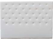 """Tête de lit capitonnée """"Déco"""" - 149 cm - Blanc - En PVC"""