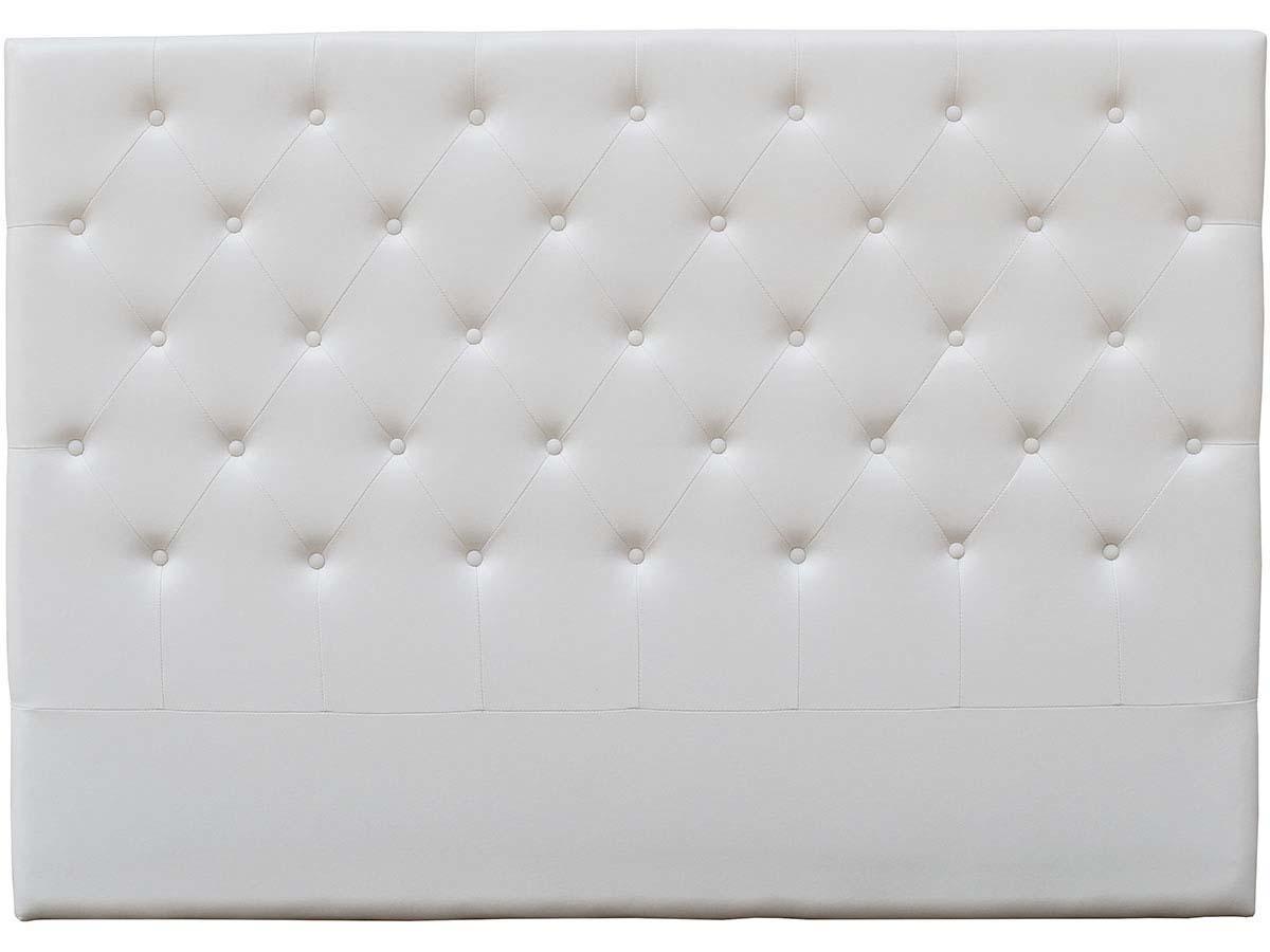 Tete De Lit Capitonnee Deco 149 Cm Blanc En Pvc 92568 92572