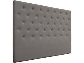 """Tête de lit capitonnée """"Déco"""" - 169 cm - Gris clair - En PVC"""