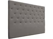 """Tête de lit capitonnée """"Déco"""" - 169 cm - Taupe - En PVC"""