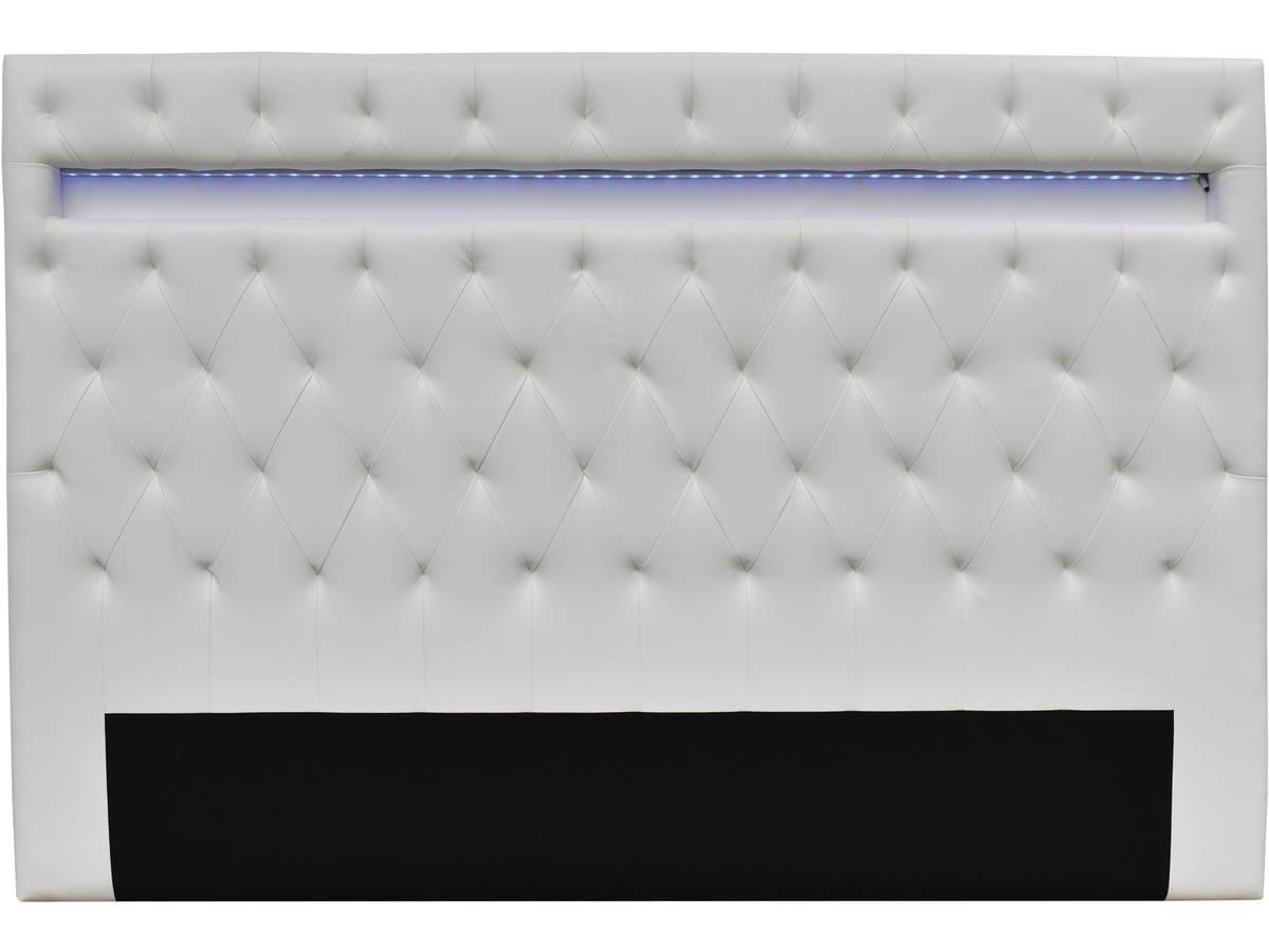 """Led Tete De Lit tête de lit """"déco"""" led - 180 x 200 cm - blanc 99445 99449"""