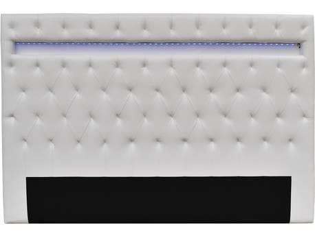 """Tête de lit """"Déco"""" LED - 180 x 200 cm - Blanc"""