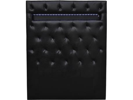 """Tête de lit """"Déco """" LED - 90 x 190 cm - Noir"""