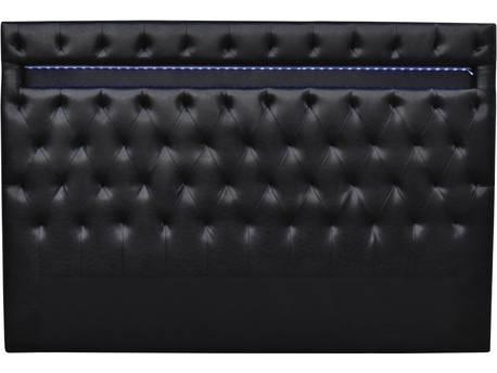 """Tête de lit """"Déco"""" LED - 180 x 200 cm - Noir"""