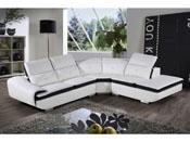 Canapé d'angle cuir reconstitué et PVC