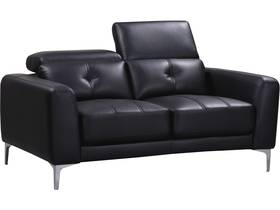 Canapé droit fixe en cuir reconstitué
