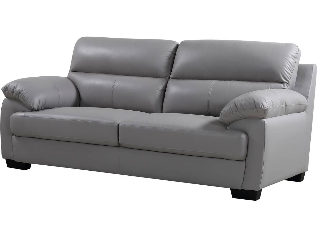 """Changer La Couleur D Un Canapé En Cuir canapé cuir et pvc """"cardiff"""" - 205 x 92 x 93 cm - 3 places"""