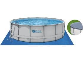 Piscine tubulaire ronde - Ø 4,57 x 1,22 m - Sans filtration