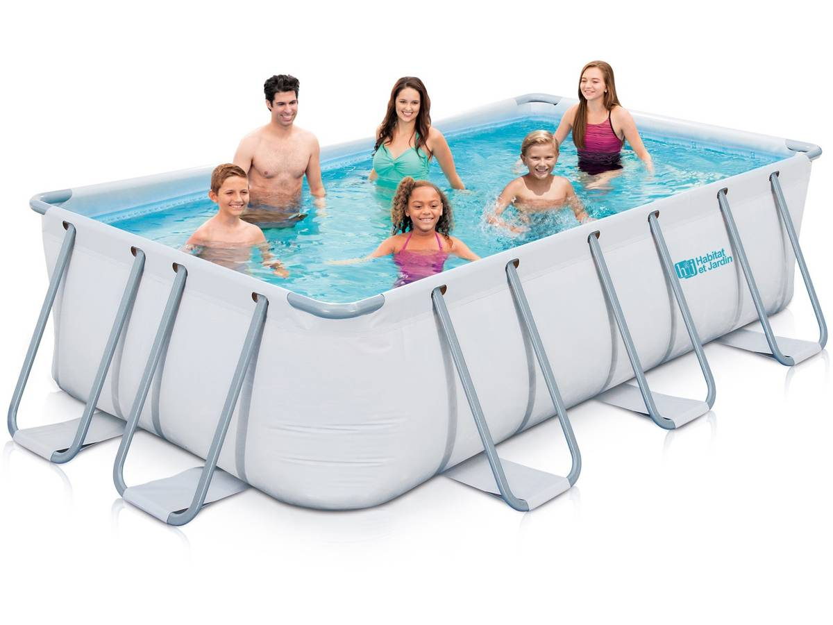 Eclairage Pour Piscine Tubulaire piscine tubulaire ludo 2 - 4.01 x 2.01 x 1.22 m 93226
