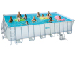 "Piscine tubulaire ""Elite"" - LUDO 5 - 7.32 x 3.66 x 1.32 m - Filtration à  sable 5,1m3/H"