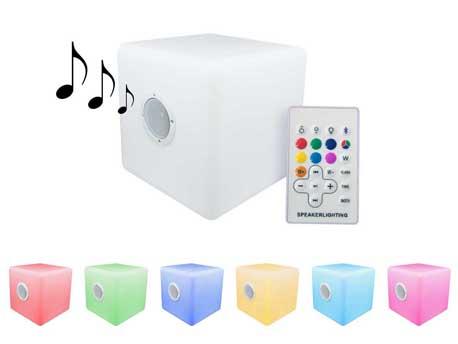 "Eclairage LED sonore Bluetooth de jardin ""Cuba 1"" - 40 x 40 cm"