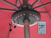 """Eclairage de jardin """"Umbrella"""" - Enceinte arceau - Ø20 x H3 cm"""