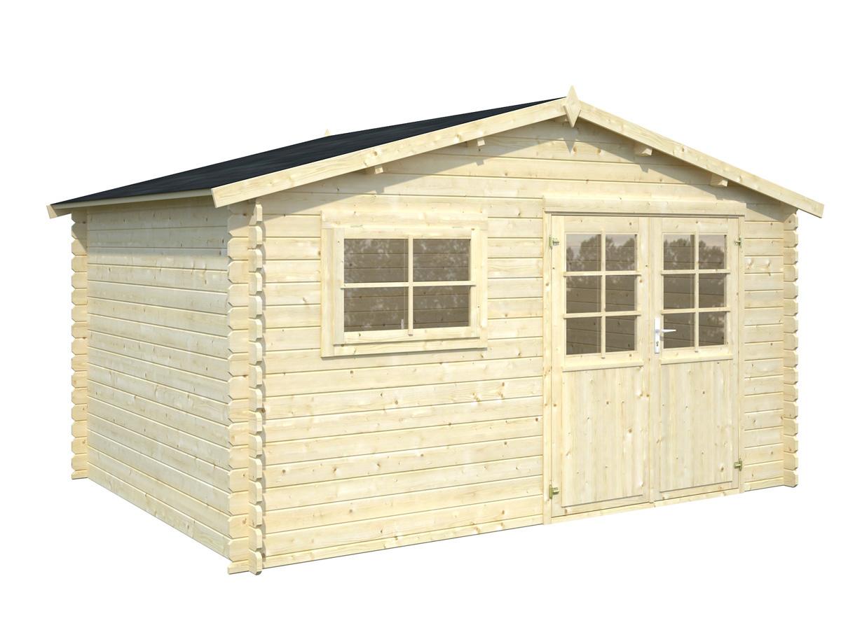 abri jardin bois bruges 1 12 9 m x x m 28 mm 80910. Black Bedroom Furniture Sets. Home Design Ideas