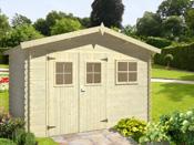"""Abri jardin bois """"Seville"""" - 7.46 m² - 3.44 x 2.17 x 2.17 m - 19 mm"""
