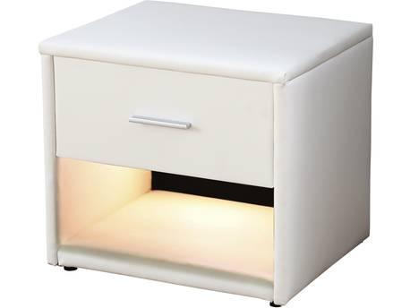 "Chevet ""Eda"" - 49 x 37 x 44.5 cm - Blanc"