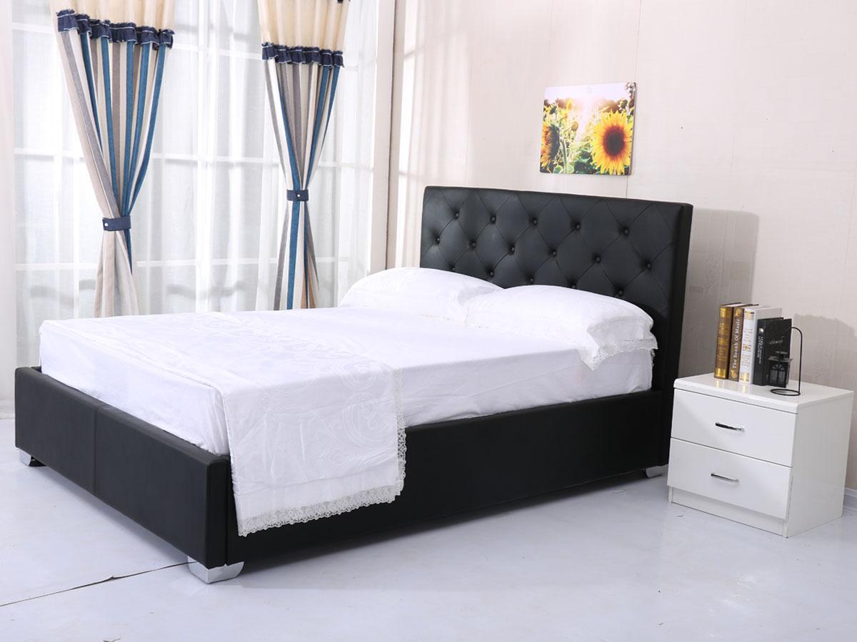 """lit coffre """" tino """" 140 x 190 cm - noir 92653 92657"""