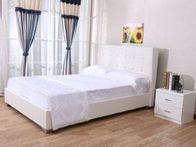 lit steven 140 x 190 cm blanc 92724. Black Bedroom Furniture Sets. Home Design Ideas
