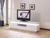 """Meuble TV LED """"Ruth"""" - 170 x 40 x 45.5 cm - Blanc laqué"""