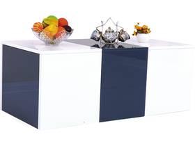 """Table basse """"Bina"""" - 115 x 55 x 45 cm - Blanc laqué"""