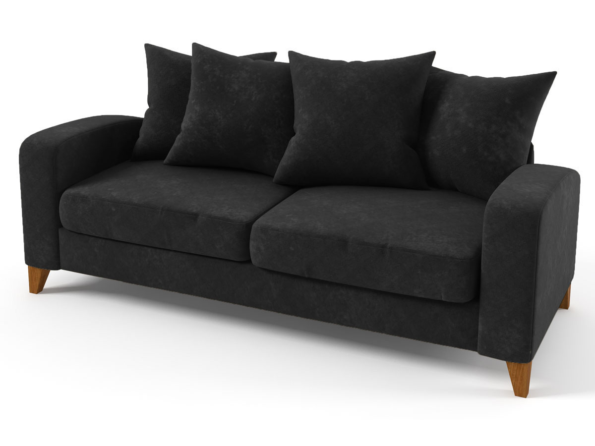 canap fixe tissu aztec 3 places gris 85985. Black Bedroom Furniture Sets. Home Design Ideas