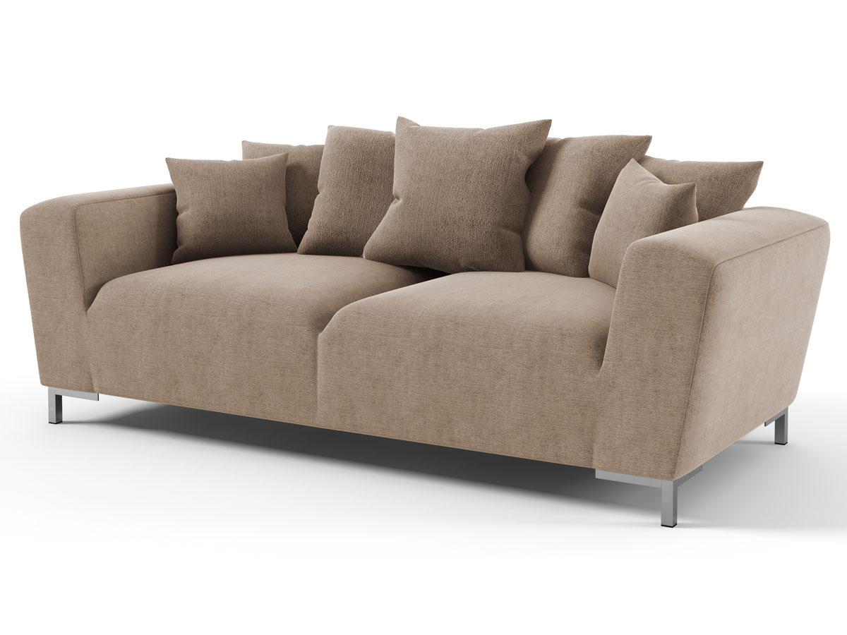 canap fixe tissu alto 3 places taupe 85994 85996. Black Bedroom Furniture Sets. Home Design Ideas