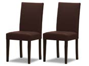 "Lot de 2 chaises ""Peter bis"" - Chocolat"